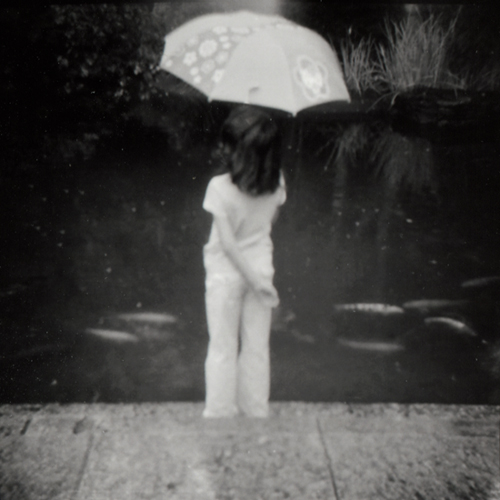 a girl with her umbrella